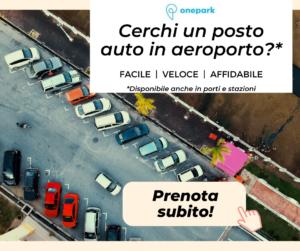 parcheggio a lisca visto dall'alto con invito all'azione di prenotare