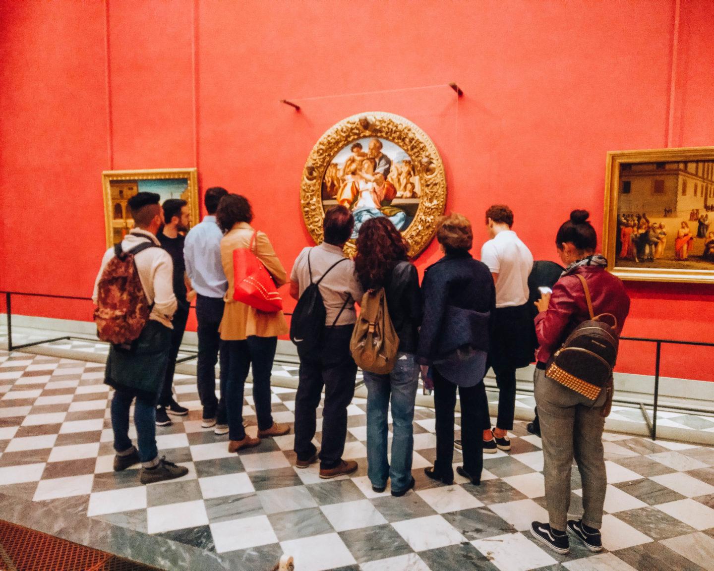 sala interna di un museo