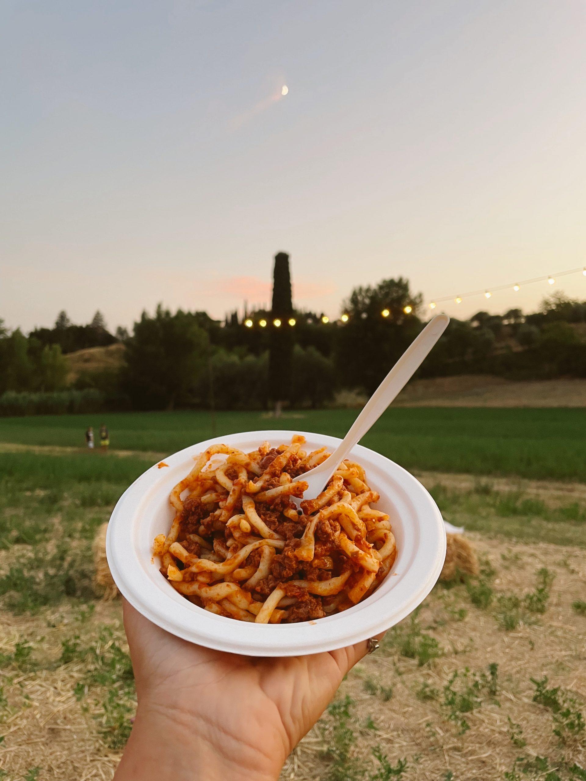 cena in vigna in toscana